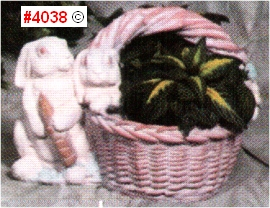 Carrot Rabbits Basket Planter
