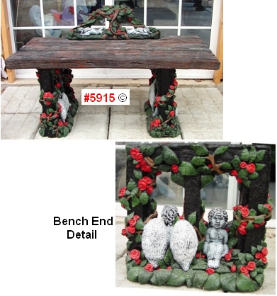 Angel and Roses Bench
